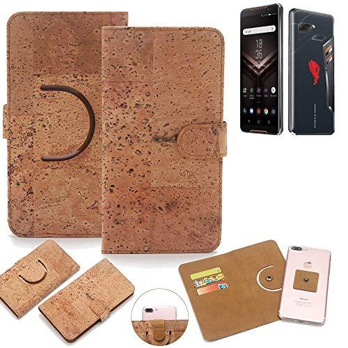 K-S-Trade per ASUS ROG Phone Copertura del Sughero Custodia 360° Wallet Case Guscio Protettivo Copertina di Protezione Cassa Bumper Flip Style Case Cover per ASUS ROG Phone