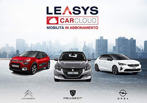 Iscrizione Abbonamento Leasys CarCloud Urban Style | Citroën C3, Peugeot 208, Opel Corsa