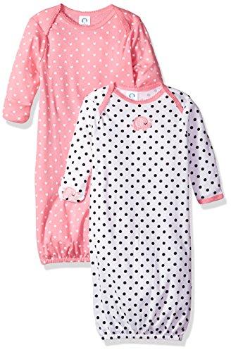 Gerber Lot de 2 robes pour bébé fille - - 0-6 mois