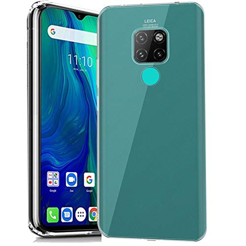cookaR Crystal Clear Ulefone Power 6 Hülle, Transparent Silikon TPU Hülle Superdünn Soft Cover Handyhülle Schutzhülle für Ulefone Power 6 Smartphone, Transparent