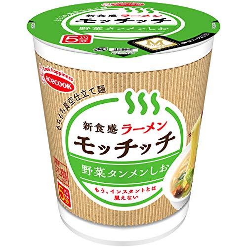 ラーメンモッチッチ 野菜タンメンしお 66g×12個入り (1ケース)