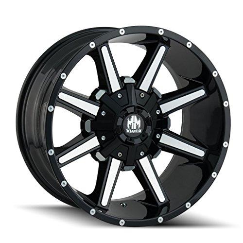 MAYHEM ARSENAL GLOSS BLACK/MACHINED FACE Wheel (20 x 10. inches /5 x 127 mm, -19 mm Offset) -  8104-2152B