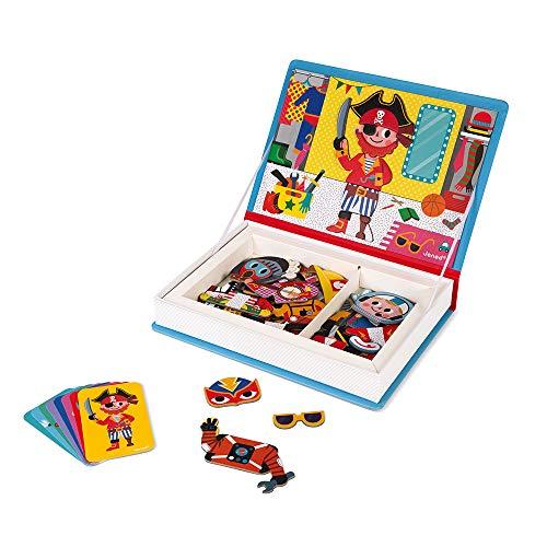 Janod- Chicos Juguete Educativo Disfraces Magneti'Book, Multicolor (Juratoys J02719)