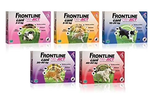 Frontline Tri-Act cane (3 pipette) - Antiparassitario soluzione spot on per cane, protezione completa (anche contro leishmaniosi), in varie taglie (10-20 kg)