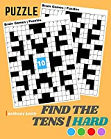 NEW!! Find the Tens Math Puzzle For Adults - Hard Challenging Math Activity Book For Adults