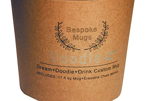 Bespoke Mugs – Write On Chalk Pen Marker Doodle Art Gratitude Mug, THE Ideal Gift