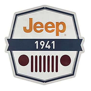 OpenRoad Jeep 1941 Embossed Metal Sign