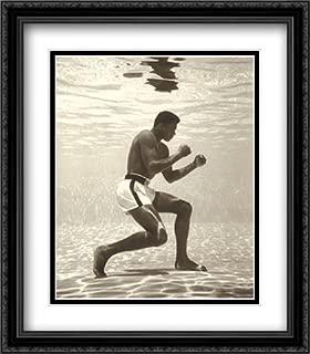 Muhammad Ali for Life Magazine (Underwater) 2X Matted 28x36 Large Black Ornate Framed Art Print by Flip Schulke