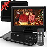 DBPOWER 11.5' Portable DVD Player, 5-Hour Built-in Rechargeable Battery, 9' Swivel Screen, Support CD/DVD/SD Card/USB, Remote Control, 1.8 Meter Car Charger and Power Adaptor (Black)