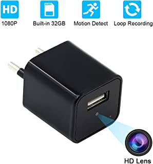 USB Wall Charger Cámara EspíaUYIKOO HD 1080P Ocultos Cámara with 32GB Internal Memory Nanny Camera for Home/Office Survei...