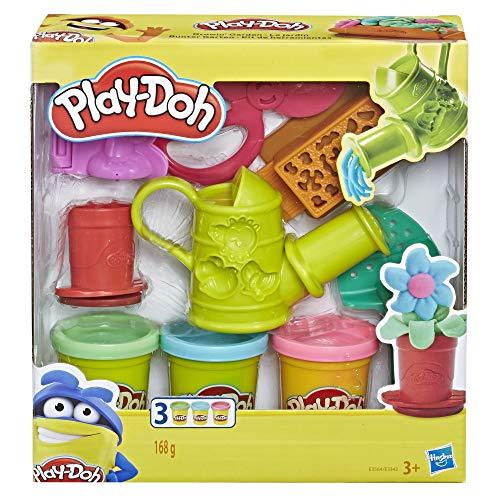 Play-Doh Kleurrijke tuin speelset voor kinderen met 3 kleuren
