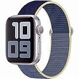 SSEIHI Kompatibel mit Apple Watch Armband mit 38mm 40mm 42mm 44mm, Nylon Sport Armband Ersatzband...