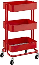 NSFM Large Beauty Salon Shelf Therapy Trolley Cart Spa Storage Tray Therapy Dentist Hairdresser Treatments, 3 Shelves