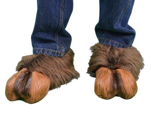 Zagone Hoof-hearted Brown, Brown Faux Fur & Latex Hoof