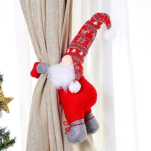 HNCZ Hebilla de Cortina navideña, Hebilla de Botella de Vino para Ancianos sin Rostro, Regalos de decoración de Botella de Vino, artículos para Fiestas