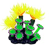 Ogquaton - Plantas artificiales de resina para acuario o pecera, color verde