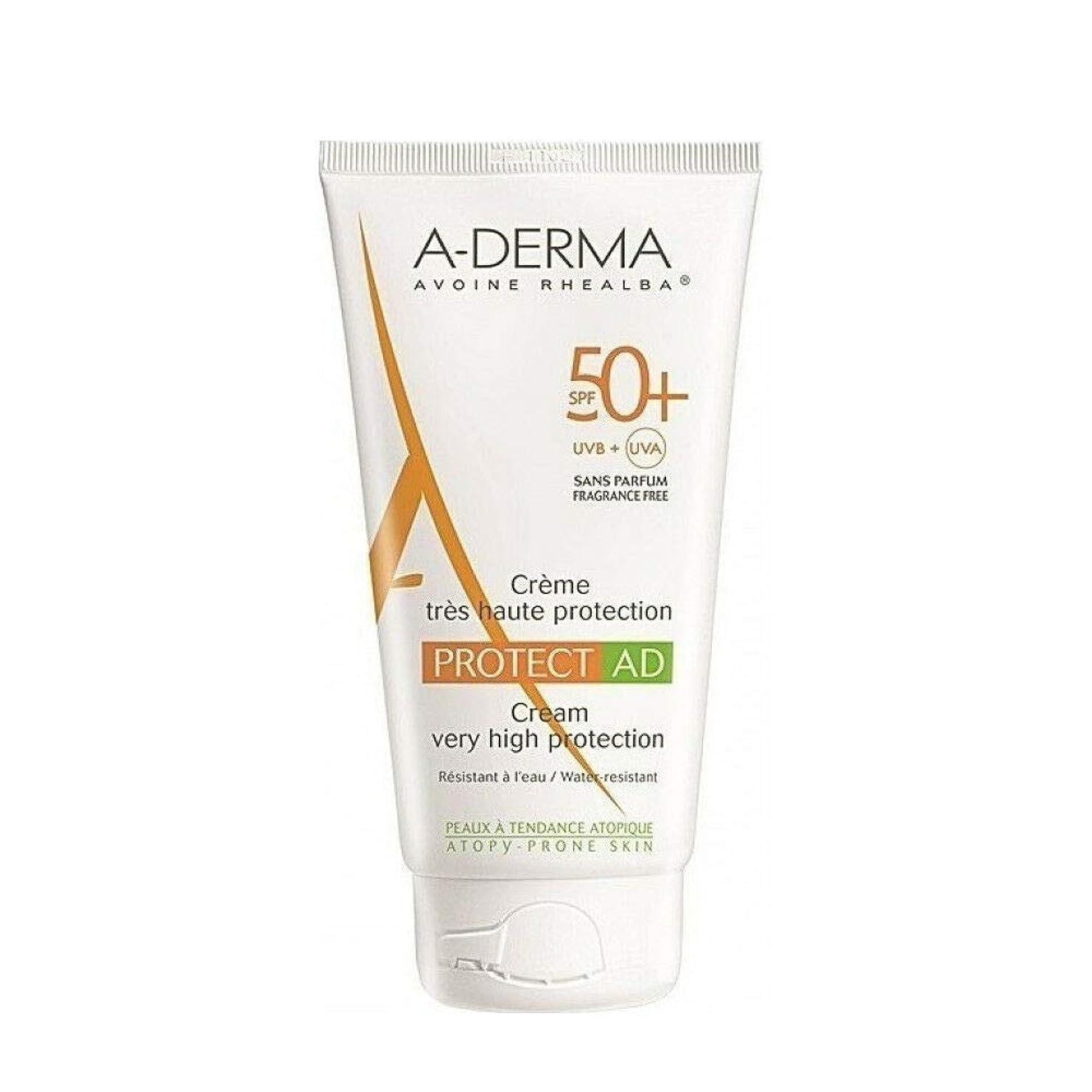 勃起激しい乱気流A-DERMA Protect AD sun cream サンクリーム (150ml) SPF50+/PA+++ フランス日焼け止め