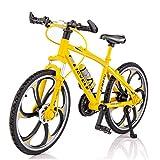 YO-HAPPY 1/10 Escala Simulación Aleación Bicicleta Mini Modelo de Bicicleta de montaña Plegable Adornos