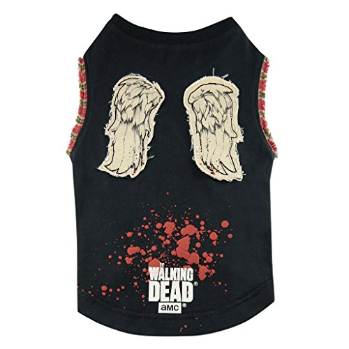 Unbekannt The Walking Dead - Hunde T-Shirt - Daryl Dixon Wings (S-XL) (S)