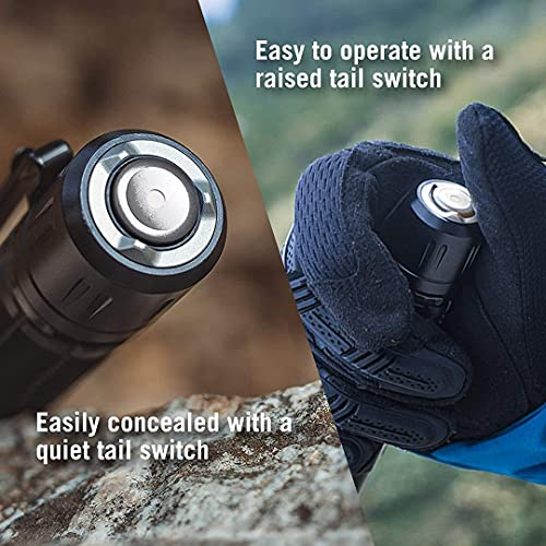 Olight M2R Pro Warrior Tactical Max 1800 Lumens 300m Throw Rechargeable Torch Flashlight, Powerful Dual Switch LED Torch with 21700 Battery for Outdoors Hunting Household Search and Rescue