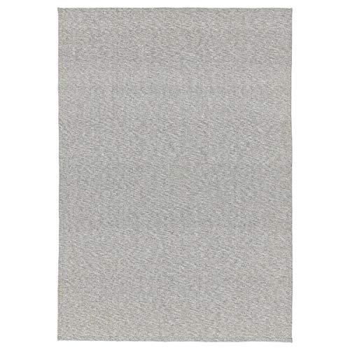Tiphede IKEA Teppich 155x220 cm flachgewebt - grau weiß - 100% Baumwolle - waschbar