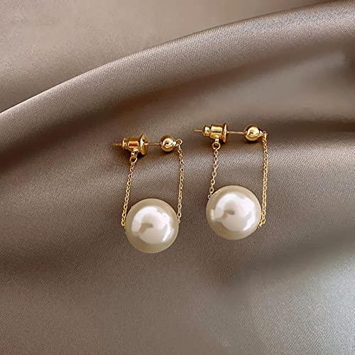 SONGK Pendientes Colgantes de Perlas pequeños Sencillos de Moda para Mujer, joyería de Moda, Pendientes Colgantes para Mujer, Accesorios