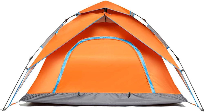 WZSMYXGS Outdoor Camping Zelt Frühling Hydraulische Automatische Doppelstock-Doppeltür Geschwindigkeit Geschwindigkeit Geschwindigkeit öffnen Großen Raum Regendicht Anti-Moskito Sonnenschutz Atmungsaktiv,Orange B07HD98Q3V  Aktuelle Form 4bbd2a