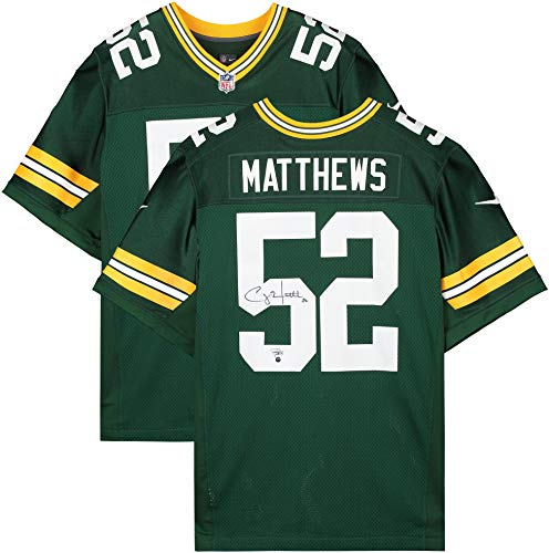 Clay Matthews Green Bay Packers Autographed Nike Elite Green Jersey - Autographed NFL Jerseys