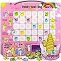 PutskA Potty-Training-Magnetic-Reward-Chart for Toddlers - Potty Chart with Multicolored Unicorn & Star Stickers – Motivational Toilet Training for Girls (Unicorn Theme) from PUTSKA