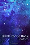 Chaffles Blank Recipe Book: Template With Space To Write In Your Favorite Chaffle Recipes Paperback Journal 6 x 9 Watercolor Purple Blue