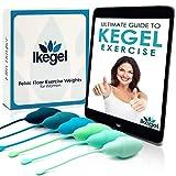 Ikegel Kegel Bolas Chinas Intimina Con Libro Electronico En Espanol | Fácil de Usar | Juego De 6 Pelotas De Ejercicio De Silicona | Bolas Kegel | Bolas Chinas de la Salud | Bolas China Suelo Pelvico