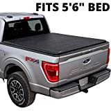 LEER ROLLITUP | Compatible with 2015+ Ford F-150 with 5.6' Bed | Soft Roll Up Truck Bed Tonneau Cover | 4R112 | Low-Profile, Sturdy, Easy 15-Minute Install (Black)