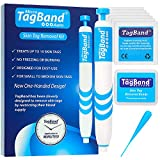 Auto TagBand Micro Skin Tag Remover Device for Small Skin Tags. Easy Application in Minutes (includes 10x Removal Bands & Cleansing Wipes)
