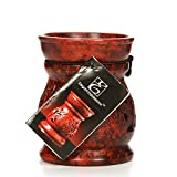 Hosley Red Soapstone Oil Tealight Warmers - 3.8' High. Ideal for Spa and Aromatherapy. Use Brand Wax Melts/Cubes, Essential Oils and Fragrance Oils. O6