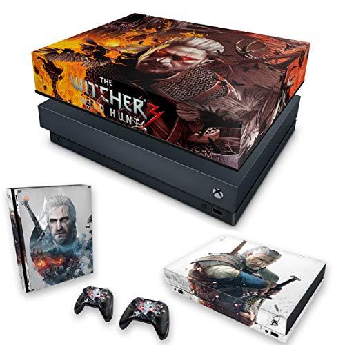 Capa Anti Poeira e Skin para Xbox One X - The Witcher 3#B