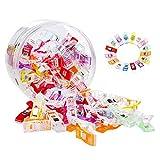Juego de 50 clips de costura de plástico NIAGUOJI para costura de costura, acolchados, manualidades, ganchillo y patchwork, manualidades