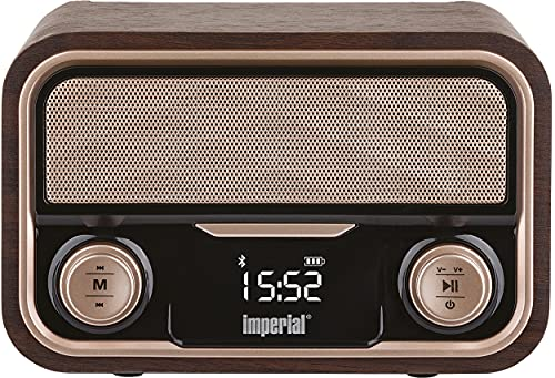 Imperial Nostalgie-Stereo-Lautsprecher/Radio BEATSMAN Retro, UKW, Bluetooth, Akku