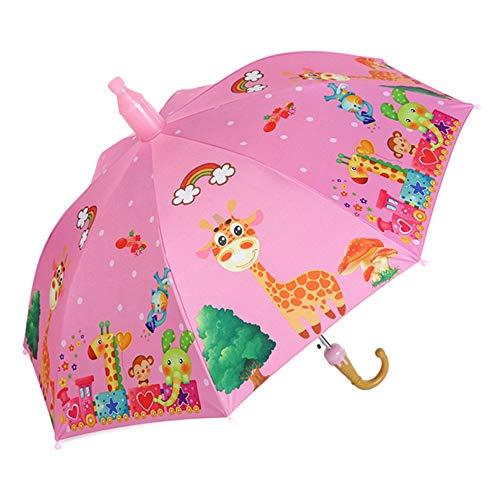 Burhetten - Ombrello a due pezzi per bambini, anti-pizzico automatico, super leggero, antivento, impermeabile, protezione solare (colore: Style-P)
