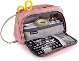 Pencil Bag Astuccio Per Studenti Case Cosmetic, Coin Purse, Stationery Storage Box,For School And Office Supplies For Women And Girls (pink) bd