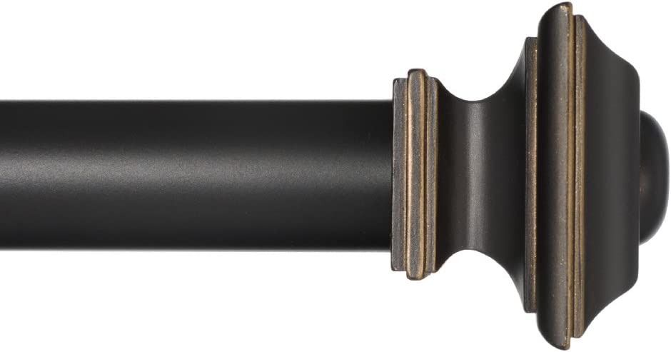 Ivilon Window Sales for sale Treatment Curtain Rod Max 42% OFF - Square Finials R in 1 8