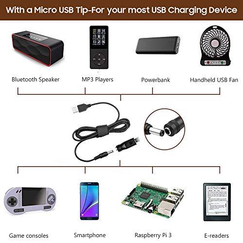 TAIFU 8 in 1 Universal Konverter Kable USB Hub 5.5*2.1mm für Seagate Router Fax TFT LCD Monitor CCTV IP Kamera 5V 9V 12V 1A 2A 3A 7 Stecker Micro USB/2.5*0.7/3.5*1.35/4.0*1.7/4.8*1.7/5.5*1.7/5.5*2.5mm