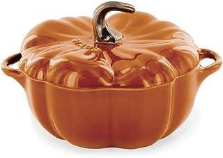 STAUB Ceramics Petite Pumpkin Cocotte, 16-oz, Burnt Orange