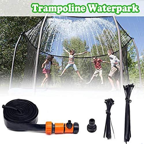 M-YN Trampoline Sprinklers Trampoline Spray Water Park Fun Summer Outdoor Water Game Trampoline Accessories (Color : Yellow, Size : 8M)
