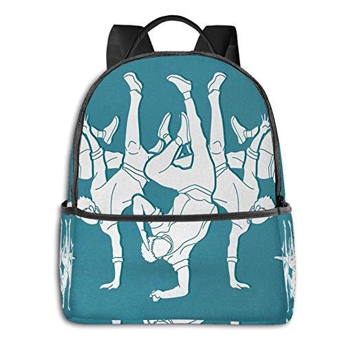 School Backpack for Men Women Teenager Daypack Fit 15.6 Inch Laptop Satchels Rucksack, Rapper 15 Casual Travel Backpack