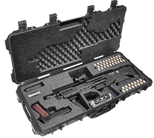 Case Club Kel-Tec KSG and Standard Manufacturing DP-12 Pre-Cut Waterproof Shotgun Case with Accessory Box and Silica Gel to Help Prevent Gun Rust (Gen 2)