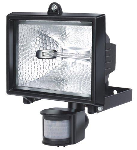 Brennenstuhl Halogenstrahler mit Infrarot-Bewegungsmelder / Flutlicht ideal als Baustrahler (Außenstrahler IP44 geprüft, 400 Watt) Farbe: schwarz