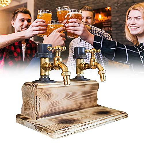 Dispensador de whisky Wood, Dispensador de licor de madera de Whisky Dispensador de vinos con disperso, bebidas y bebidas Dispensador de bebidas con grifo, Bombas de barras