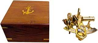 Hampton Nautical  Scout's Brass Sextant, 4