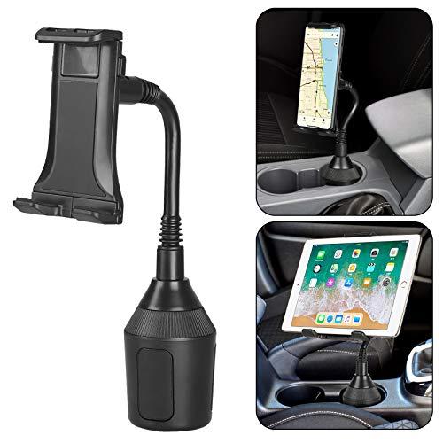 EEEKit Soporte para portavasos para Coche, Tableta para teléfono, iPad 2 en 1 Soporte para Coche, Soporte de Cuello de Cisne Ajustable para Todos los teléfonos Inteligentes y tabletas Universal