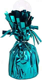Unique Party Foil Balloon Weight, Caribbean Teal